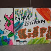 Kiefer's 16Th Birthday Graffiti tiles to put around a chocolate made for my son's 16th birthday... The original design was from a CC member... THANK YOU for...
