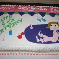 Tori's Birthday This is a marble cake w/ chocolate buttercream filling. The little girl was having a spa party so I took a little of this from the...