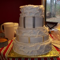 Silver And Gold Wedding Biggest cake I've ever done!