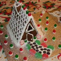 Homemade Gingerbread Using A Old School A Frame Pattern That We Used When We Were Kids Homemade gingerbread using a old-school A-frame pattern that we used when we were kids.