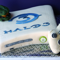 Halo Xbox Cake You can find about a gazillion XBox cakes on the internet; well, now you can find a gazillion and one. The XBox is cake, the controller and...