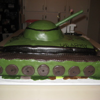 Army Tank  My son wanted an army tank for his birthday. I didnt have an abundance of time so unfortunately this is not my best work, but it was from...