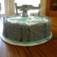 "Skylander Portal Cake This was a very quickly done cake- as you can tell by the messy piping & frosting sploches on the cake board. The ""stone""..."