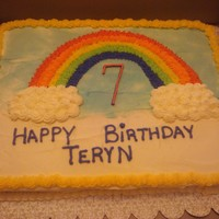 Teryn's Rainbow Cake For my cousin's rainbow themed party