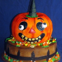 Silly Pumpkin  I was asked to do a cake to look like their decorations. Not sure if I can post the picture of the decorations they sent me, but would love...