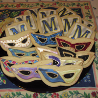 "Mardi Gras/krewe Of Muses Cookies For The Muses Party Some of the sugar cookies I made for my friends' Muses Mardi Gras Parade Party in 2012. The ""M"" is for ""Muses"" in..."