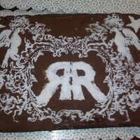 Randy Rogers Band a friend wanted a randy rogers band cake so i took a design off of a concert shirt and freehanded it
