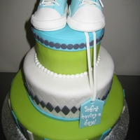 Baby Converse Sneaker Cake