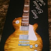 Guitar Cake Gibson Les Paul Lemon Cake With Lemon Cream Filling Hand Painted Wood Grain Guitar cake. Gibson les Paul lemon cake with lemon cream filling hand painted wood grain