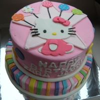 Hello Kitty Butter cream iced and fondant accents.