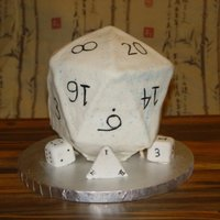 20 Sided Die  My brother wanted me to make his friend a cake...with very short notice my husband & I threw this together in about 4 hours. The gamers...