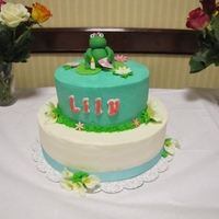 Lily Baby Shower Cake