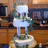 Tiered Ivy Theme Wedding Cake