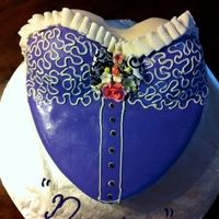 Bustier Cake Fondant. Cake is designed using the Heart pan by Wilton and two bowls!