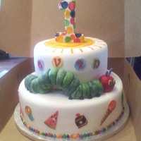 Very Hungry Caterpillar All edible and hand painted.