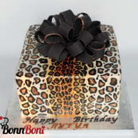 Leopard Print Birthday Just another animal print cake :)