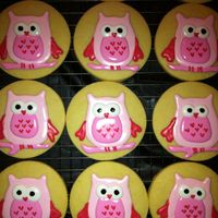 Valentines Day Owl Cookies Vanilla Sugar And Decorated With A Glaze Valentines Day Owl Cookies. Vanilla sugar and decorated with a glaze.