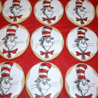 Cat In The Hat Cookies In a bowl mix some butter, sugar and flour too. The Cat in the Hat made some yummy cookies just for you!!! I made these for a Dr Seuss...