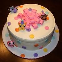 Littlest Pet Shop Cake  For a little girls birthday. All done in MMF including the littlest pet shop figures. I also want to point out that I found an awesome...