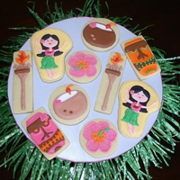 Luau Theme Cookies I made these cookies for a local competition. I saw some luau themed clipart that I fell in love with so I decided to use that theme for...