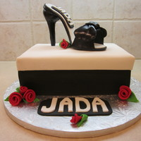 Jada's High Heel This cake was for my DIL and I had so much fun making it (it was my first high heel). Shoe box is yellow and chocolate cake. Shoe and...