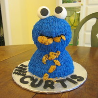 Cookie Monster This cake was for my 28yo son, but thought I would design it for his two sons (my grandsons) rather than him (is that bad?). Anyway, I have...