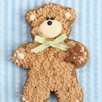 Teddy Bear Cookie teddy bear cookie for baby shower