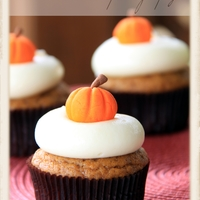 Pumpkin Cupcakes Pumpkin cupcakes with maple cream cheese icing