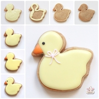 Baby Duck Cookie baby shower duck cookie step by step