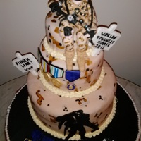 "For Wounded Warrior Projectfigurine Is Modelling Chocolate Edible Dog Tagssigns And Medals Are Gumpaste With Handpainted Pixel Camouf For ""Wounded Warrior Project""...Figurine is modelling chocolate. Edible dog tags,signs and medals are gumpaste with handpainted..."