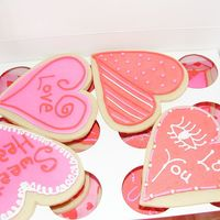 Valentine's Day Cookies Sugar Cookies iced in royal