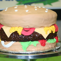 Hamburger Cake This was for a friend that was changing jobs and he loves to eat, so what else but Hamburger cake! It was super easy and fun to make. I...