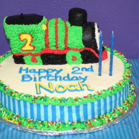 Thomas The Train Cake My son loved Thomas the train (actually he wanted Percy), so for his second birthday this is what I did. I had a 3-D train pain that was...