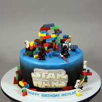 Lego Star Wars 9Th Birthday Cake Favorite characters. Decorated in fondant, gumpaste.