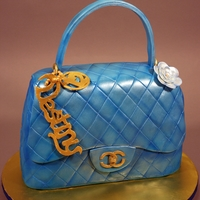 Chanel Purse Birthday Cake Decorated in fondant and gumpaste