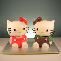 Hello Kitty Twins 2Nd Birthday Cake