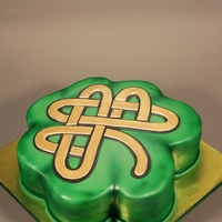Celtic Clover Leaf Cake Guiness Chocolate Stout with Cream cheese frosting