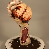 "Zombie Hand & Brains Started out as a Halloween piece- Won best in category and ""The Blacksheep Award"" At Mike Elder's Kansas City Cakefest 2012&..."