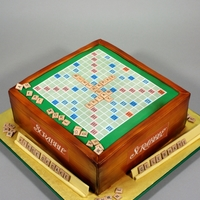 Scrabble Birthday Cake Decorated in fondant and edible images.