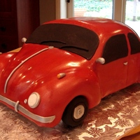 Vw Beetle Cake   Carving cars stresses me out!