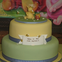 Classic Pooh Baby Shower Classic pooh. Fondant covered. Fondant decorations.