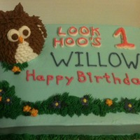 Owl All Buttercream Icing And Decorations Owl Is Cake Too   Owl. All buttercream, icing and decorations. Owl is cake too.