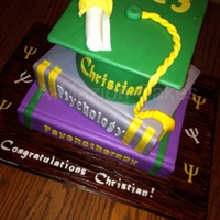 Psychology Books Graduation Cake