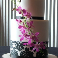 "Damask And Orchids   6""/double height 8"""