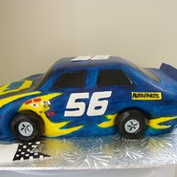 Bryson's Nascar Nascar cake made for a little boy's 8th birthday.