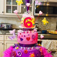 Fancy Nancy Birthday Party Cake