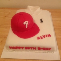 Polo Shirt & Phillies Hat Cake Polo Shirt & Phillies Hat CakeMade for a co-worker that turned 50. He only wears Polo shirts and loves the Phillies.