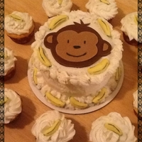 Monkey & Bananas Smash Cake