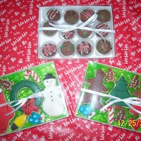 Boxed Christmas Treats   Cake Ball Truffles & Decorated Sugar Cookies!