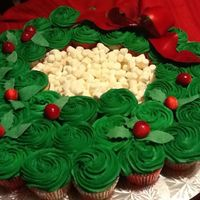 Cupcakes For Christmasyummy And Easy To Make Used Italian Cream Cake Recipe With Regular Butter Cream Berries Leaves And Red Bow Mad Cupcakes for Christmas...yummy! And easy to make. Used Italian Cream Cake recipe with regular butter cream. Berries, leaves, and red bow...